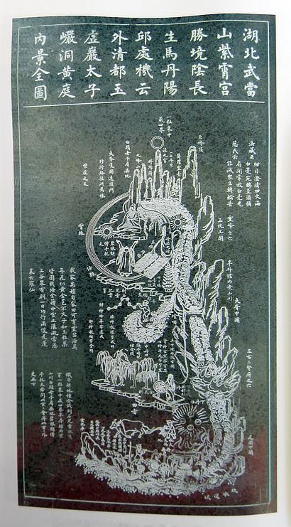 【武当山黄庭内景全图】
